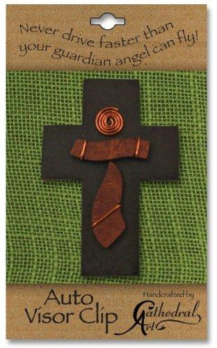 Cathedral Art MVC104 Crucifix Auto Visor Clip 2-14-Inch