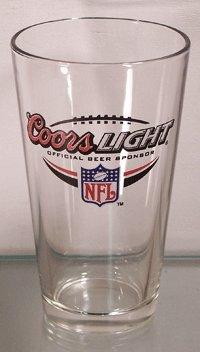 Coors Light NFL Offical Beer Sponsor Glassware - Set of 4 Pint Glasses