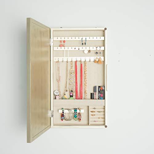 Hives and Honey Nicolette Organizer Jewelry Storage Mirror Champange