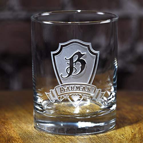 Engraved Whiskey Scotch Bourbon Rocks Glass Gift Set Of 2