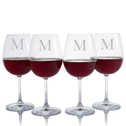 Custom Waterford Crystal Red Wine Glass Engraved Monogrammed