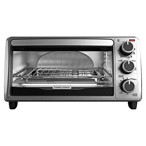 Black+decker To1303sb 4-slice Toaster Oven, Silver