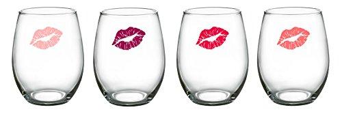 Luminarc Girlfriends Stemless Wine Glasses Set of 4 15 oz