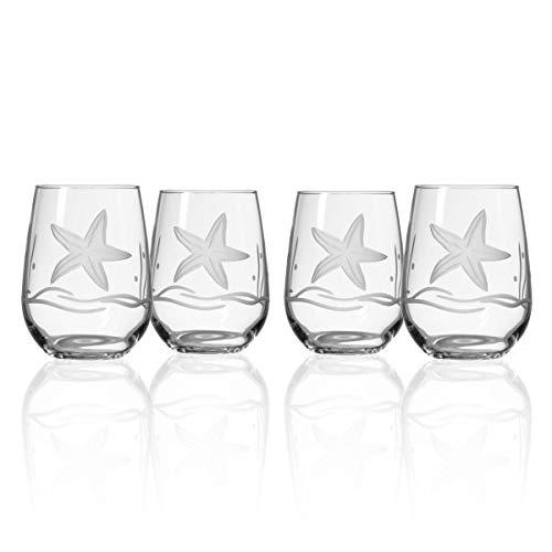 Starfish Stemless Wine Glass Set of 4