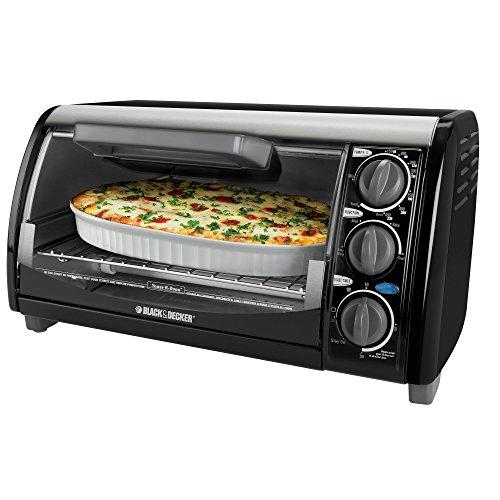 Black & Decker Tro490b 1200-watt 4-slice Countertop Oven And Broiler With Removable Crumb Tray, Black