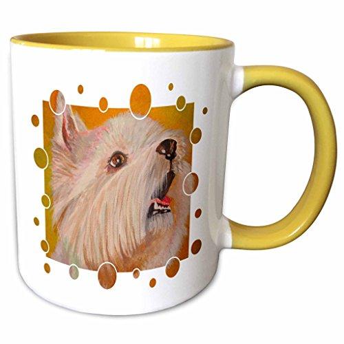 3dRose Taiche Acrylic Art - Dog French Bulldog - 11oz Two-Tone Yellow Mug mug_23744_8