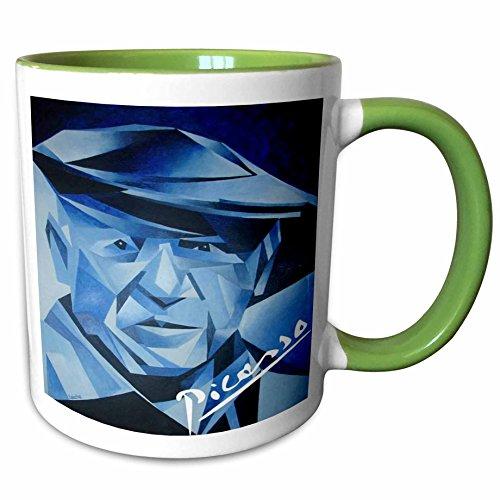 3dRose Taiche Acrylic Art - Picasso The Blue Period - 11oz Two-Tone Green Mug mug_18267_7