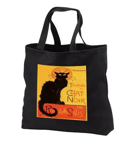 Taiche Acrylic Art - Cats Le Chat Noir - Tote Bags - Black Tote Bag 14w x 14h x 3d tb_24933_1