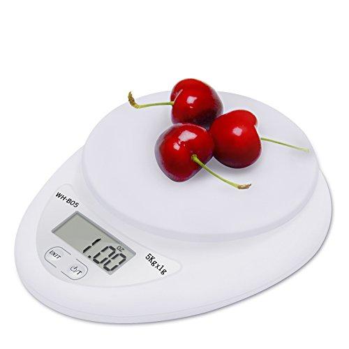 Etekcity 11lb/5kg Digital Kitchen Food Scale, 0.01oz Resolution, Calibration Supported