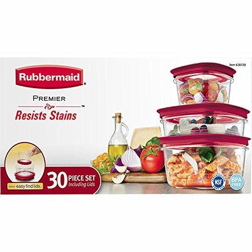 Rubbermaid Premier 30 piece Storage Set - Stain Resistant