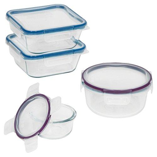 Snapware 8-Piece Total Solution Food Storage Set  Glass
