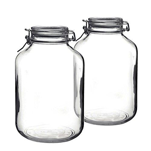 Bormioli Rocco Fido Round Glass Jar Set of 2
