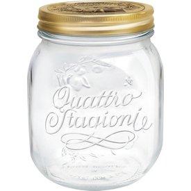 Bormioli Rocco Quattro Stagioni 235 Ounce Glass Jar - Set of 4