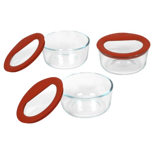 Pyrex Premium 6-Piece Glass Food Storage Set