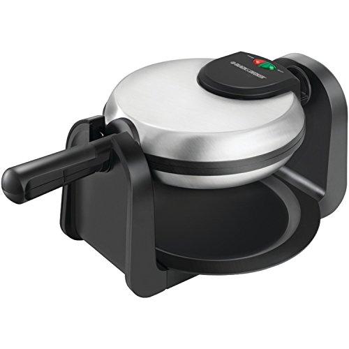 Black+decker Wm1404s Flip Waffle Maker, Silver