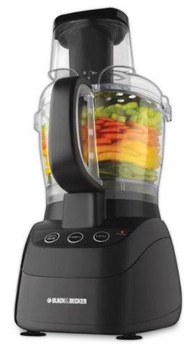 Black Decker FP2500B PowerPro Wide-Mouth 10-Cup Food Processor Black