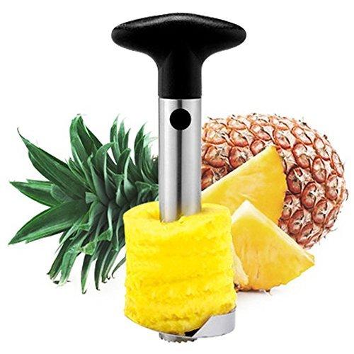 Huixinda Stainless Steel Easy Pineapple Peeler Corer Slicer and De-corer