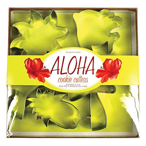 Fox Run 36019 Aloha Tropical Cookie Cutter Set Tin-Plated Steel 5-Piece