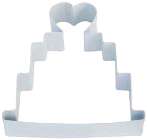 Dress My Cupcake Wedding Cake Cookie Cutter 4-Inch White