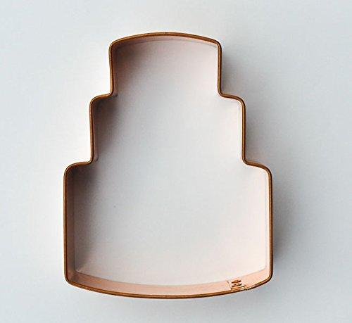 ecrandal 3 Tier Wedding Cake copper cookie cutter