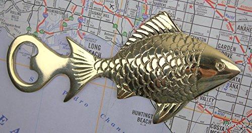 Solid Brass Fish Bottle Opener ~ Unique Nautical Decor