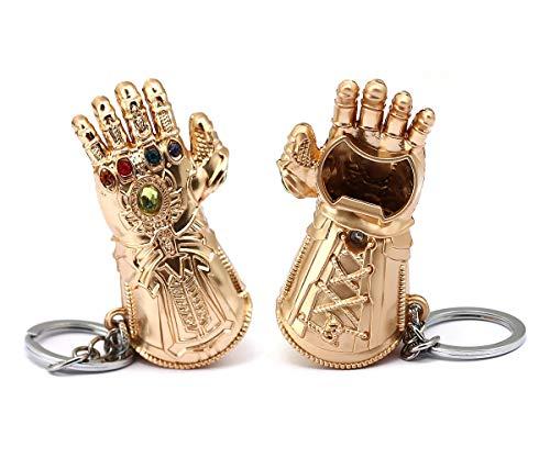 365Home Infinity Gauntlet Keychain Bottle Opener Thanos Glove Keychain Bottle Opener Thanos Beer Bottle Opener Keychain Gold