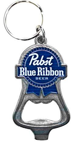 Pabst Blue Ribbon PBR Beer Bottle Opener Keychain - Milwaukee Wisconsin