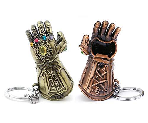 VNFLY Infinity Gauntlet Keychain Bottle Opener Thanos Glove Keychain Bottle Opener Thanos Beer Bottle Opener Keychain Bronze