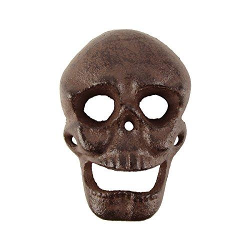 Treasure Gurus Metal Wall Mount Skeleton Head Skull Beer or Soda Bottle Opener