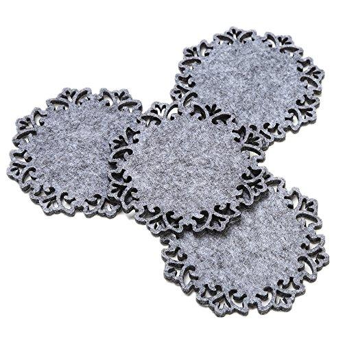 Dulce Cocina Coasters - Grey Felt - Set Of 4