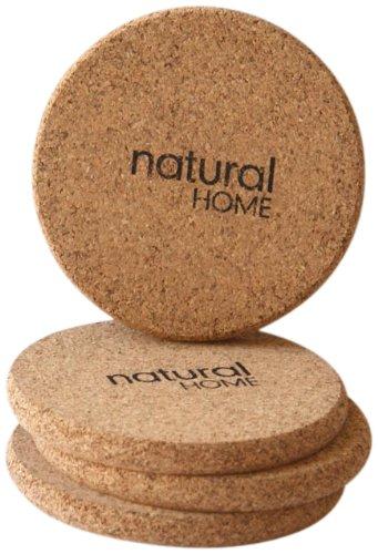 Natural Home Decor Cork Coaster, Set Of 4