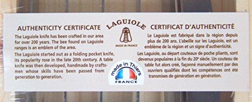 Jean Dubost Laguiole 6-piece Steak Knives Brown