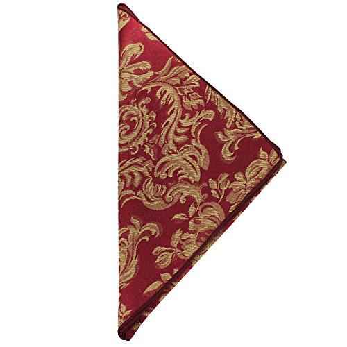 Ultimate Textile 2 Dozen Miranda 20 x 20-Inch Damask Cloth Dinner Napkins- Jacquard Weave Bordeaux