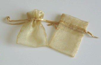 Rinas Garden Organza Favor Bags - 3x4 - Gold - 150 Bags