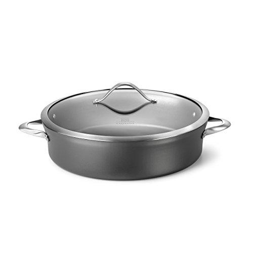 Calphalon Contemporary Hard-Anodized Aluminum Nonstick Cookware Sauteuse Pan 7-quart Black - 1876962 Renewed