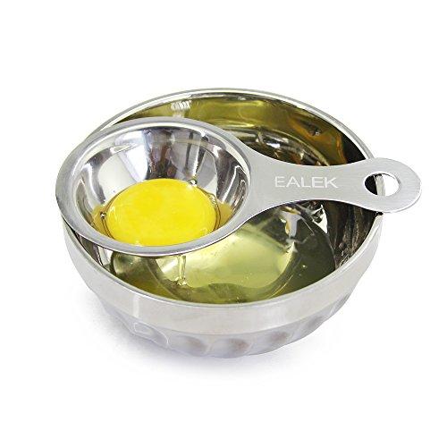 Stainless Steel Egg SeparatorEALEK Egg White Separator Egg Yolk Filter Divider Strainer Cracker Dishwasher Safe Sieve Gadget Kitchen Tool