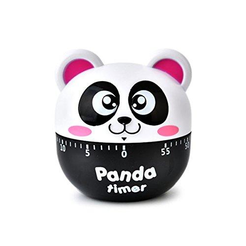 60 Minutes Cooking Egg Timer for KitchenPanda Mechanical Rotation Alarm Timer Pink