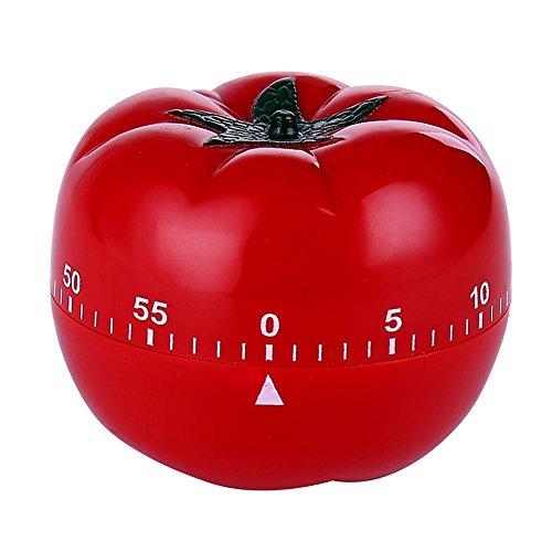 Tomato Mechanical Kitchen Timer60 Minutes Vegetable Cartoon Timer Ringing Alarm Tomato