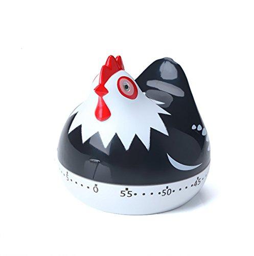 Maylai Egg Timer Kitchen Timer Clock Digital Timer Creative Countdown Timer Cooking Timer Black Hen
