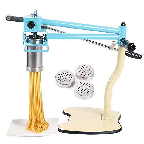 HYYKJ Commercial Pasta Maker Hand Press Noodle Making Machine 3 Model Stainless Steel Pasta Roller Spaghetti Fettuccini Tagliatelle Making Kitchen Tool