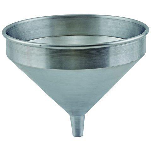 Winco SAF-4 9-18 Dia x 7-34H 2 Qt Spun Aluminum Refilling Funnel for Liquids Flask Funnel