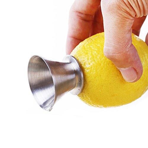 Best Utensils Stainless Steel Manual Lemon Juicer Squeezer Reamer 188 Stainless Steel Hand Held Citrus Juicer and Lemon Pourer 1