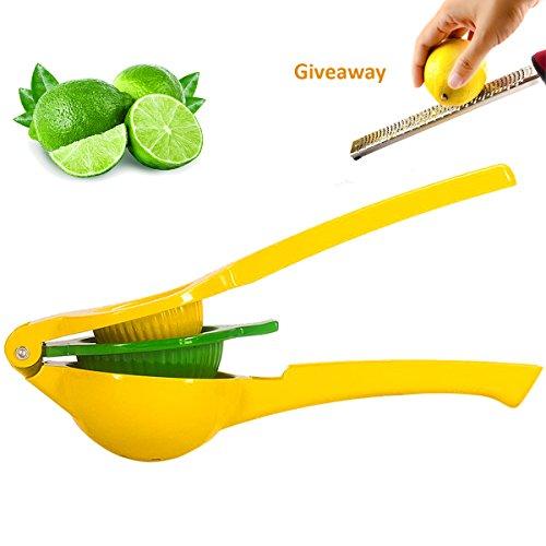 Fayogoo Lemon SqueezerManual Lemon JuicerPremium Quality Metal Citrus Press Juicer A Lemon Grater2 Pack