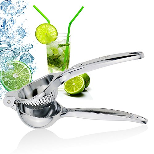 ONME Lemon Squeezer Premium Quality Stainless Steel Lemon Lime Squeezer with High Strength Manual Hand Citrus Press Lime Juicer with Heavy Duty Design Anti-corrosive Dishwasher Safe – Silver