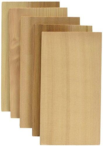 Jaccard Premium Cedar Grilling Planks 5 Pack Small Brown Cedar Wood