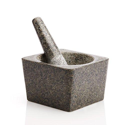 Granite Mortar and Pestle 5 inch Square