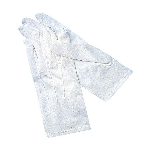 San Jamar 5312WH-M San Jamar 5312WH-M White Cotton Waiters Gloves Medium 1 Pair Cotton White