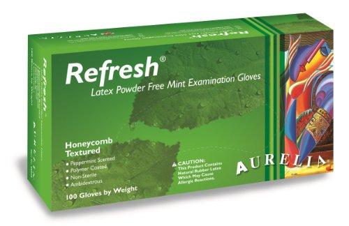 Aurelia Refresh Latex Glove Powder Free 94 Length 5 mils Thick Medium Pack of 100