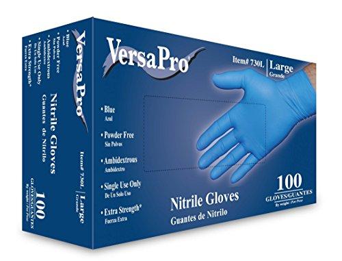 VersaPro Nitrile Gloves Powder Free Large Box of 100