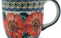 Polish-Pottery-Mug-12-oz-Peach-Poppies-UNIKAT-47.jpg